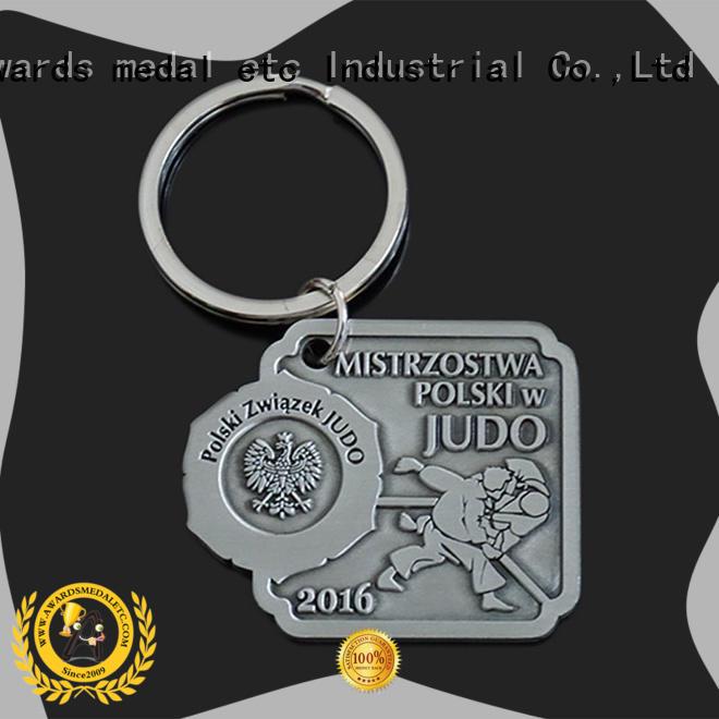 Awards Medal good quality custom metal keychains international market for gift
