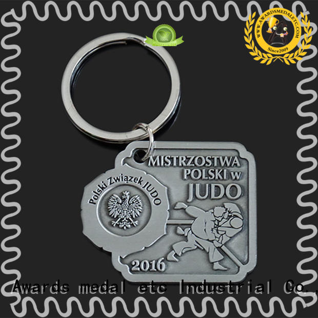 Awards Medal inexpensive metal key chains trade cooperation for wholesale