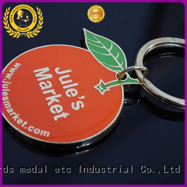 Awards Medal good quality custom logo metal keychains key for promotion