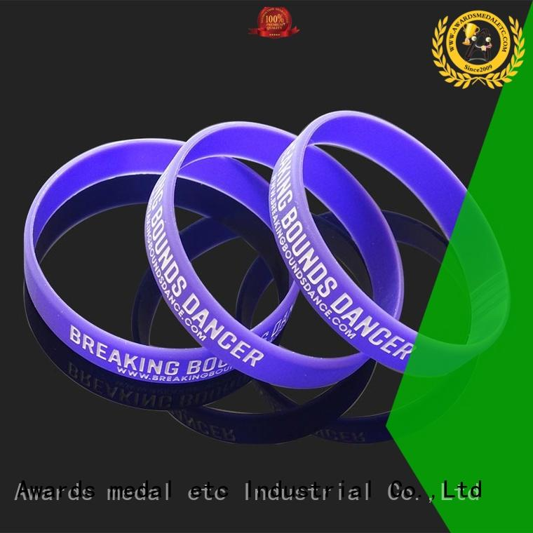 Awards Medal premium quality custom silicone wristbands export worldwide for event