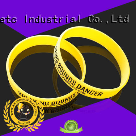 Awards Medal commercial printed silicone wristbands export worldwide for kids