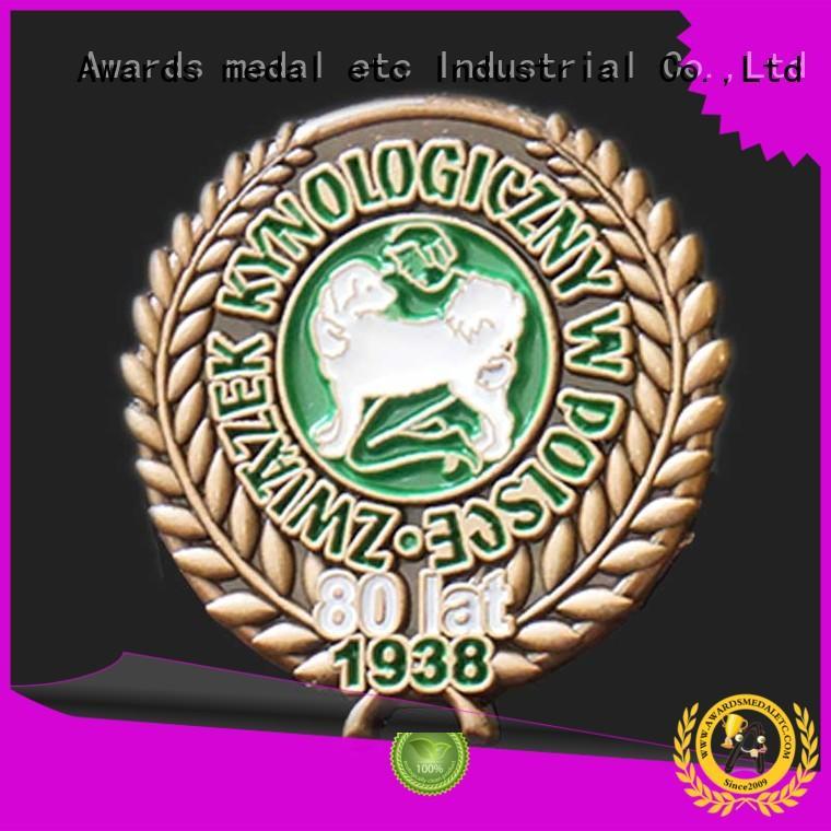 economical pin badges medallion overseas trader for souvenir