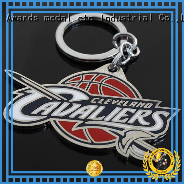 Awards Medal basketball custom logo metal keychains international market for promotion
