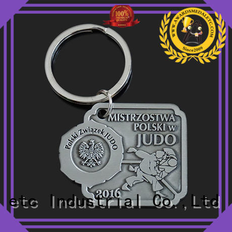 Awards Medal latest metal key chains international market for gift