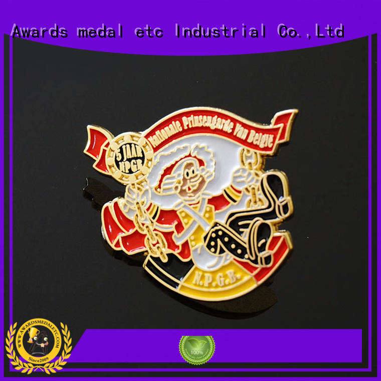 Awards Medal epoxy custom pin badges producer for souvenir