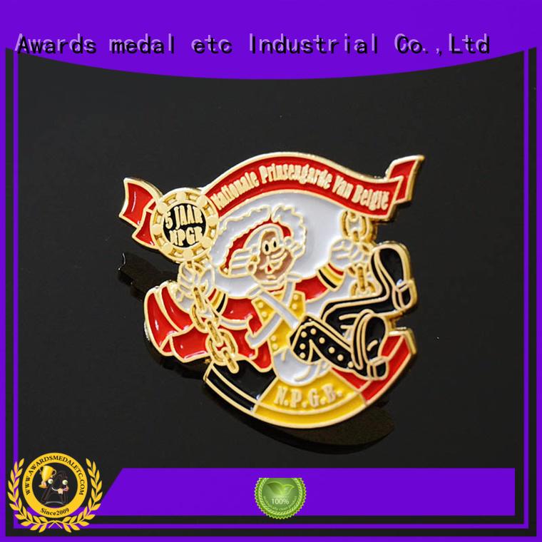 Awards Medal epoxy custom pin badges producer for souvenir