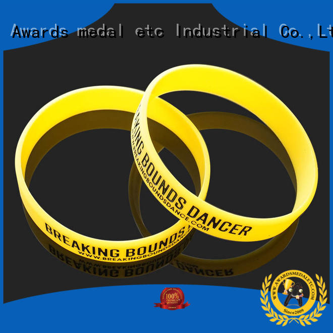 Awards Medal gift printed silicone wristbands export worldwide for kids