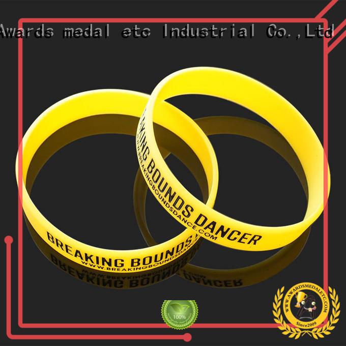 blank custom silicone bracelets trader for sport Awards Medal
