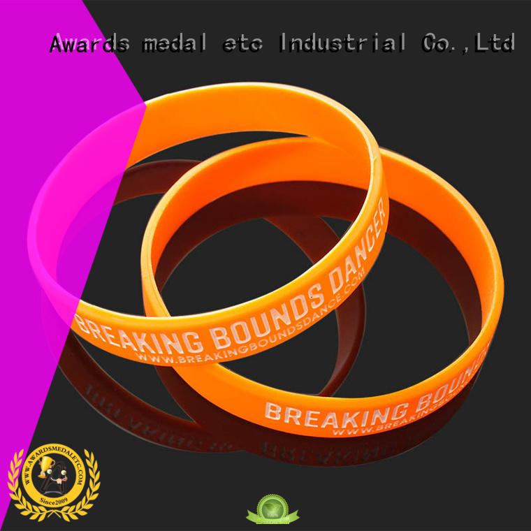 Awards Medal commercial custom silicone wristbands innovative product for sport