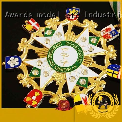 Awards Medal enamel medailles carnaval design for importer