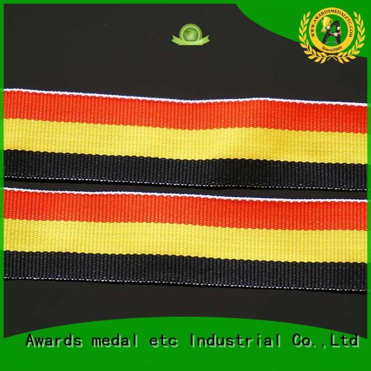 ribbon lanyard black for sport event Awards Medal