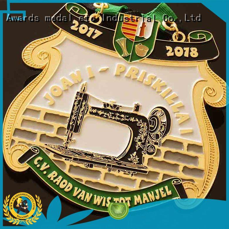 Awards Medal ribbon medailles carnaval supplier for importer
