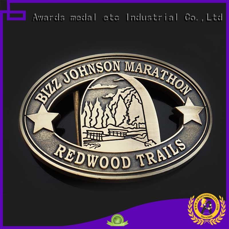 Awards Medal customized custom made belt buckles design for mass-market