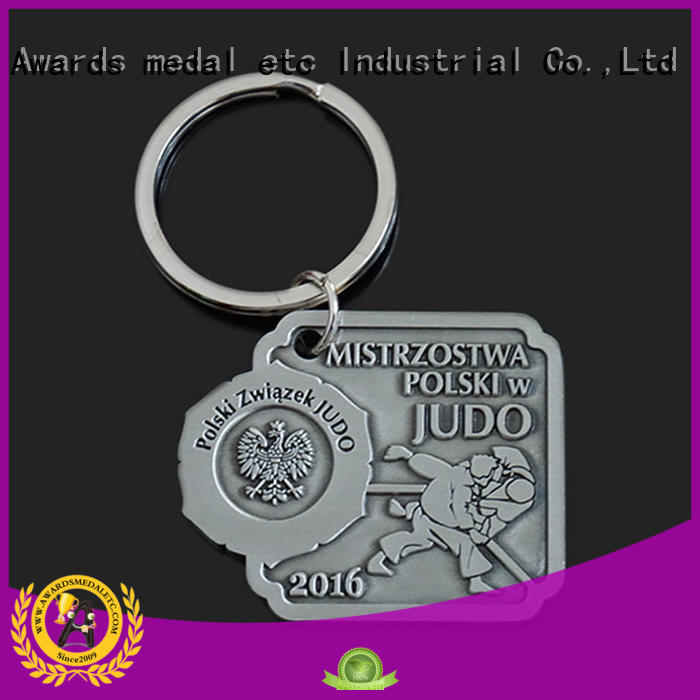 custom logo metal keychains quality for gift Awards Medal