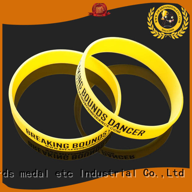 Awards Medal premium quality silicone wristbands exporter for sport