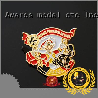 Awards Medal best bespoke pin badges guitar for garment