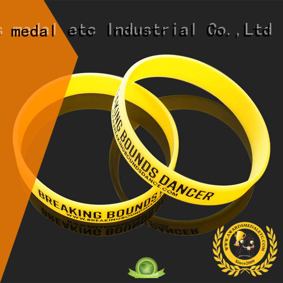 Awards Medal cost-effective custom silicone bracelets exporter for kids