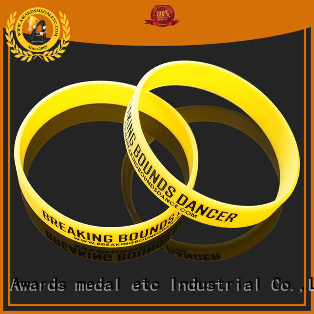Awards Medal cost-effective silicone wristbands export worldwide for kids