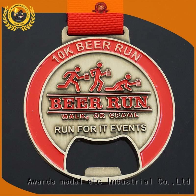 Awards Medal customized beer bottle opener overseas market for souvenir