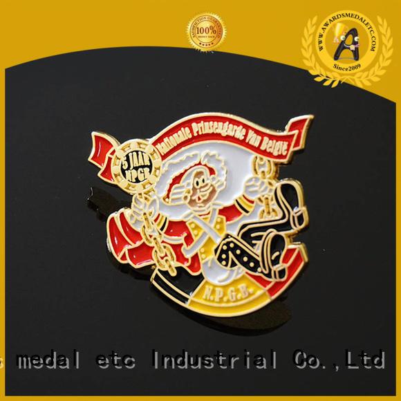 Awards Medal best custom pin badges overseas trader for gift