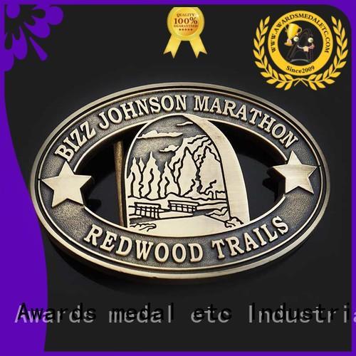 Awards Medal buckle custom made belt buckles high reliability for sale