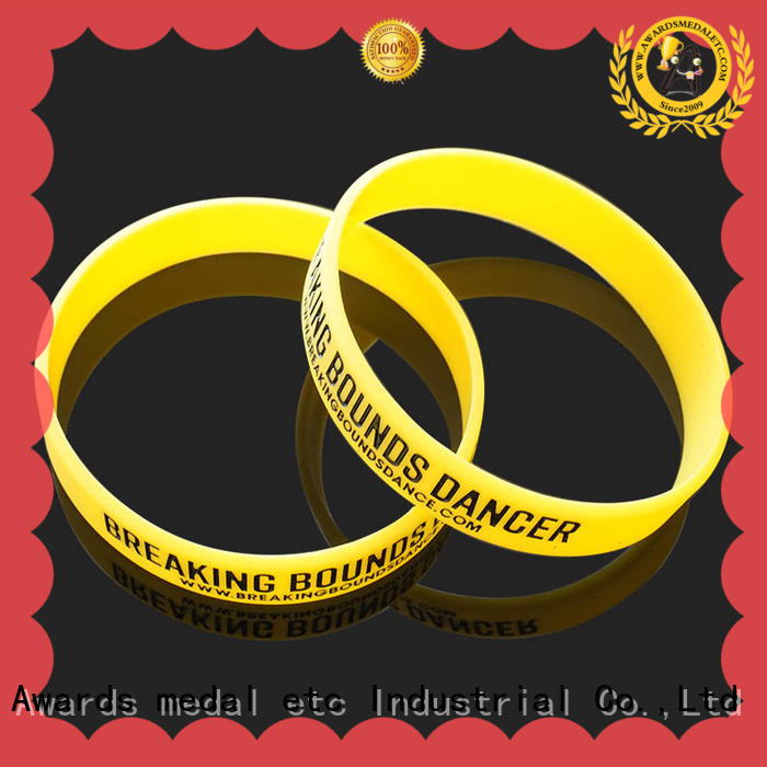 Awards Medal commercial silicone wristbands exporter for kids