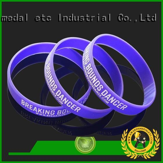 Awards Medal commercial printed silicone wristbands trader for kids