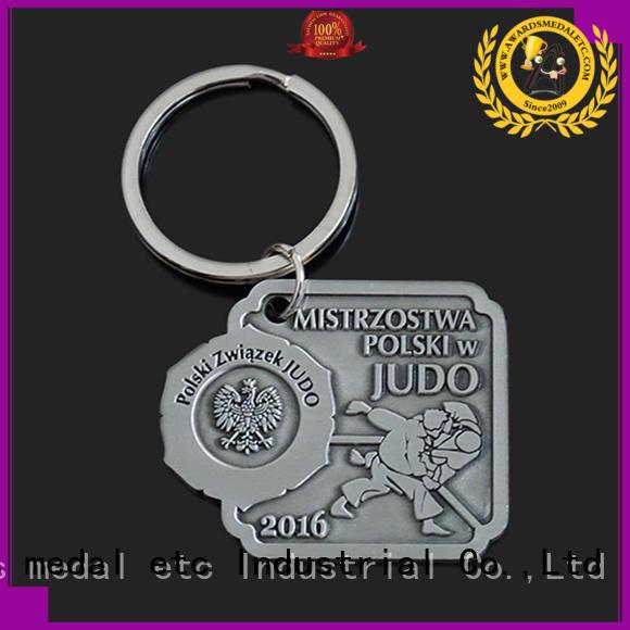 Awards Medal good quality metal keychain international market for promotion