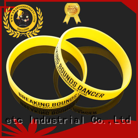 Awards Medal cost-effective custom silicone wristbands exporter for event