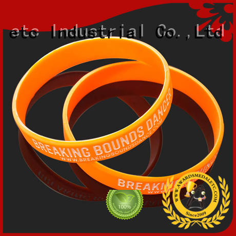 Awards Medal commercial printed silicone wristbands exporter for kids