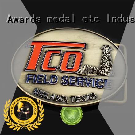 Awards Medal stainless metal belt buckle personalized for mass-market