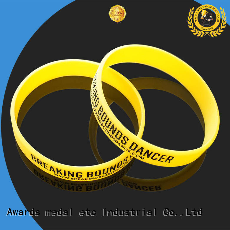 Awards Medal cost-effective printed silicone wristbands innovative product for event
