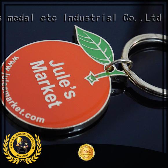 Awards Medal latest custom logo metal keychains international market for wholesale
