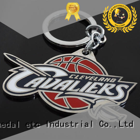 Awards Medal quality metal keychain trade cooperation for wholesale