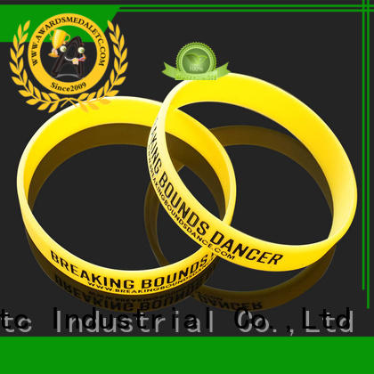 Awards Medal commercial custom silicone wristbands export worldwide for kids