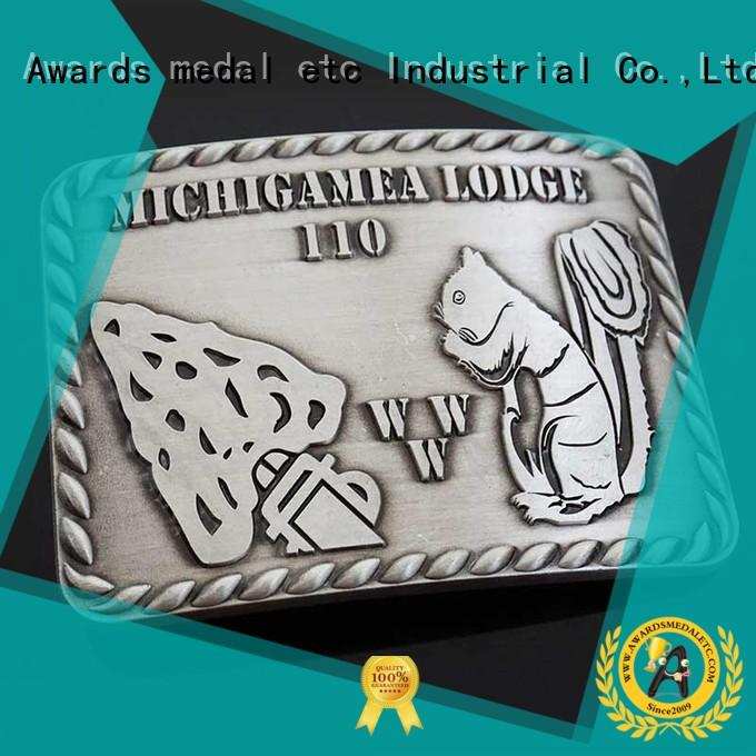 Awards Medal customized metal belt buckle manufacturer for sale