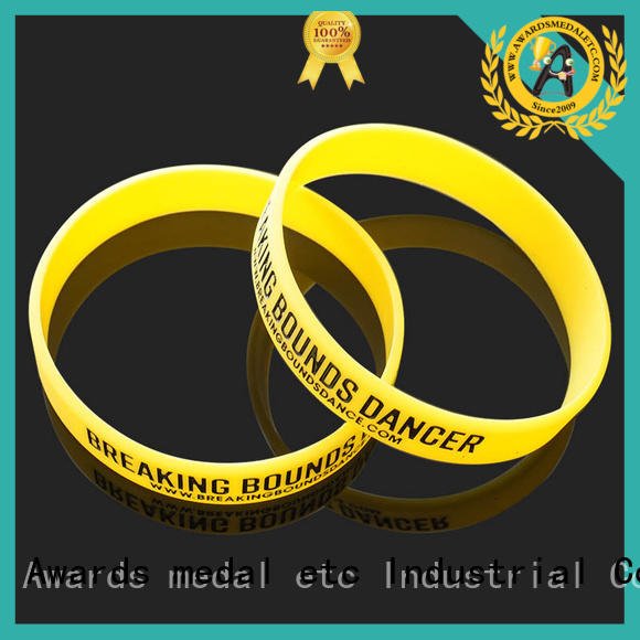 Awards Medal cost-effective printed silicone wristbands exporter for event