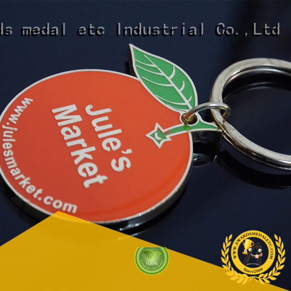 inexpensive custom logo metal keychains zinc win-win cooperation for gift