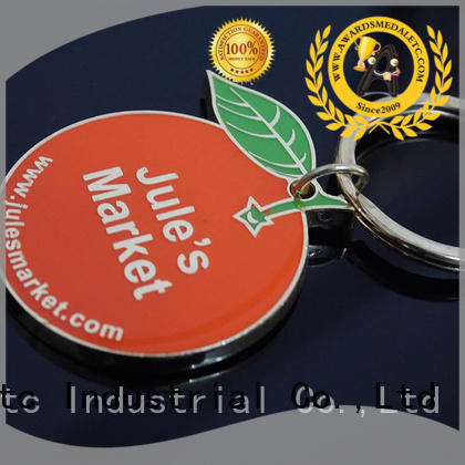 Awards Medal oem metal keychain trade cooperation for gift