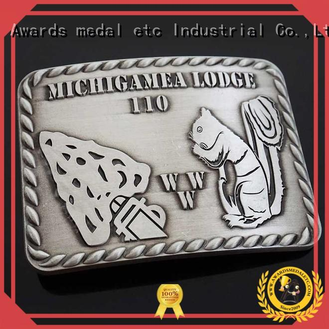 Awards Medal customized custom made belt buckles personalized for mass-market