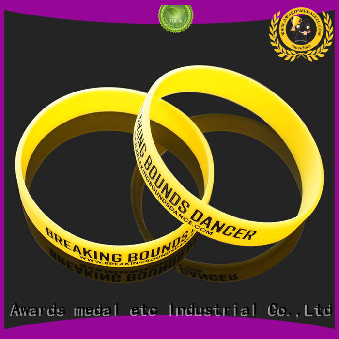 Awards Medal commercial custom silicone wristbands trader for event