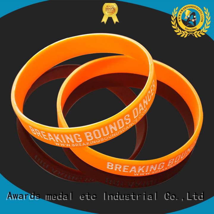 item custom silicone bracelets trader for sport Awards Medal