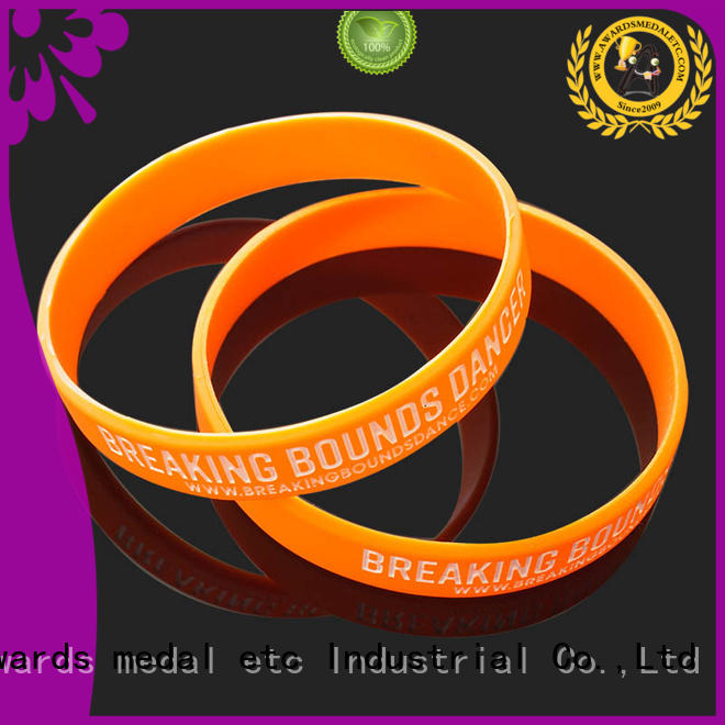 Awards Medal blank printed silicone wristbands exporter for sport