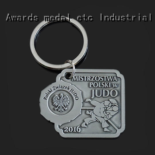 Awards Medal or metal key chains international market for promotion