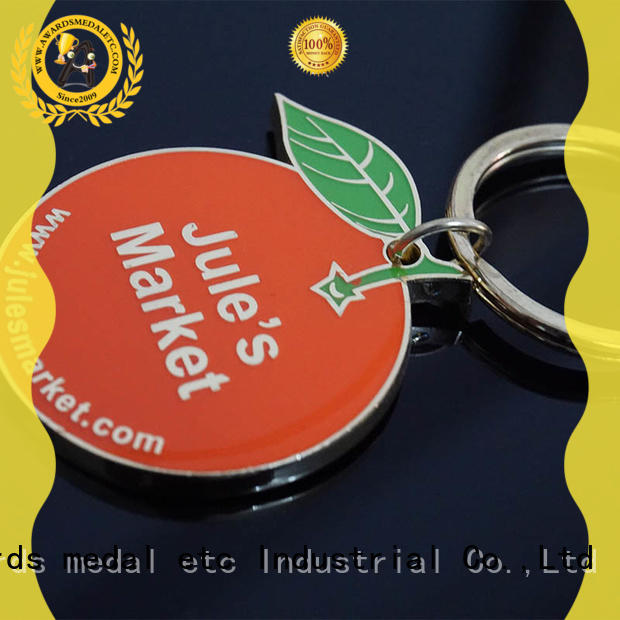 Awards Medal key custom logo metal keychains trade cooperation for promotion