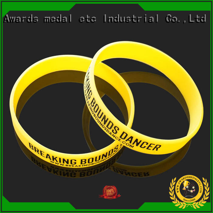 Awards Medal blank printed silicone wristbands trader for sport