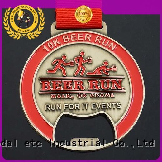 Awards Medal originality custom bottle openers bulk production for events