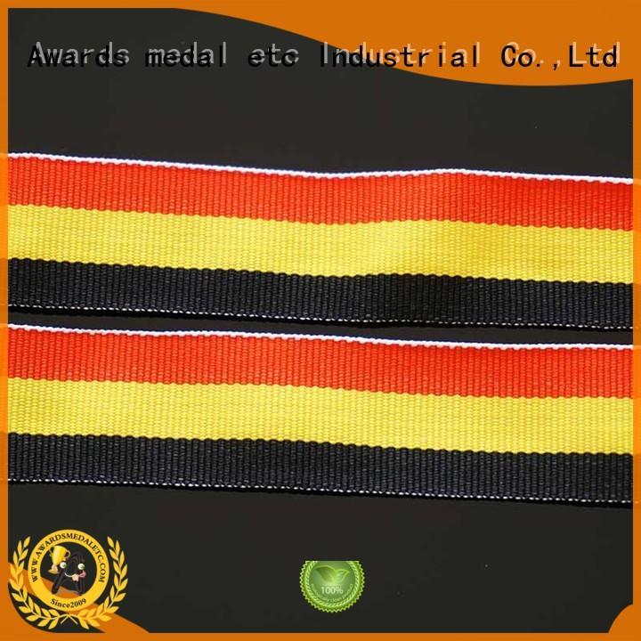Awards Medal most popular ribbon lanyard trendy designs for sport event