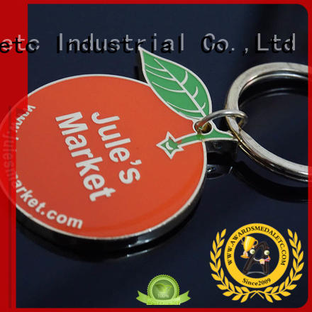 Awards Medal inexpensive metal key chains trade cooperation for promotion
