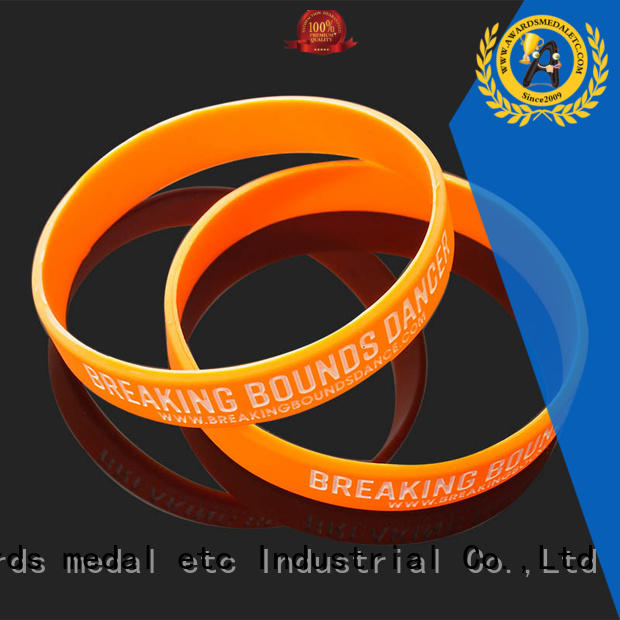 Awards Medal cost-effective printed silicone wristbands innovative product for sport